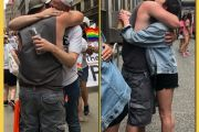 Free Dad Hugs at the Pittsburg Pride Parade