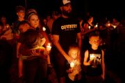 Vigil After Church Mass Shooting in Sutherland Springs, Texas