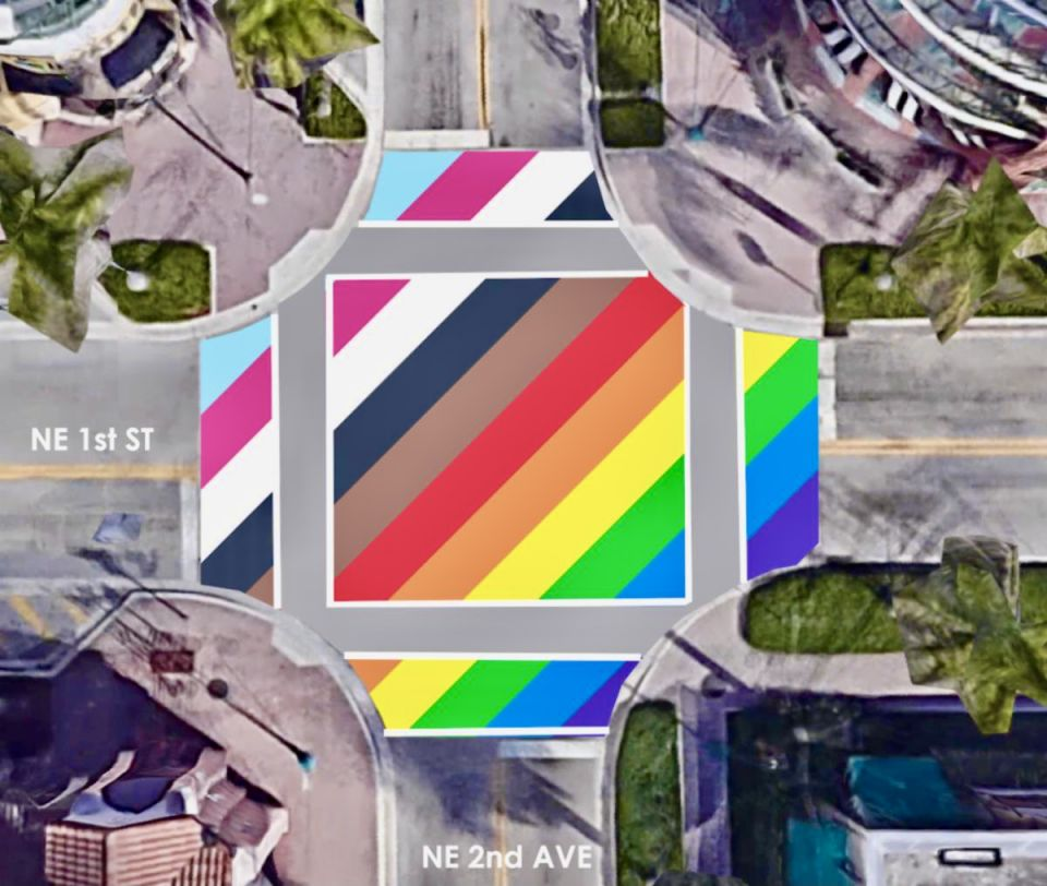 Delray Beach Intersection Plan for Pride 2021
