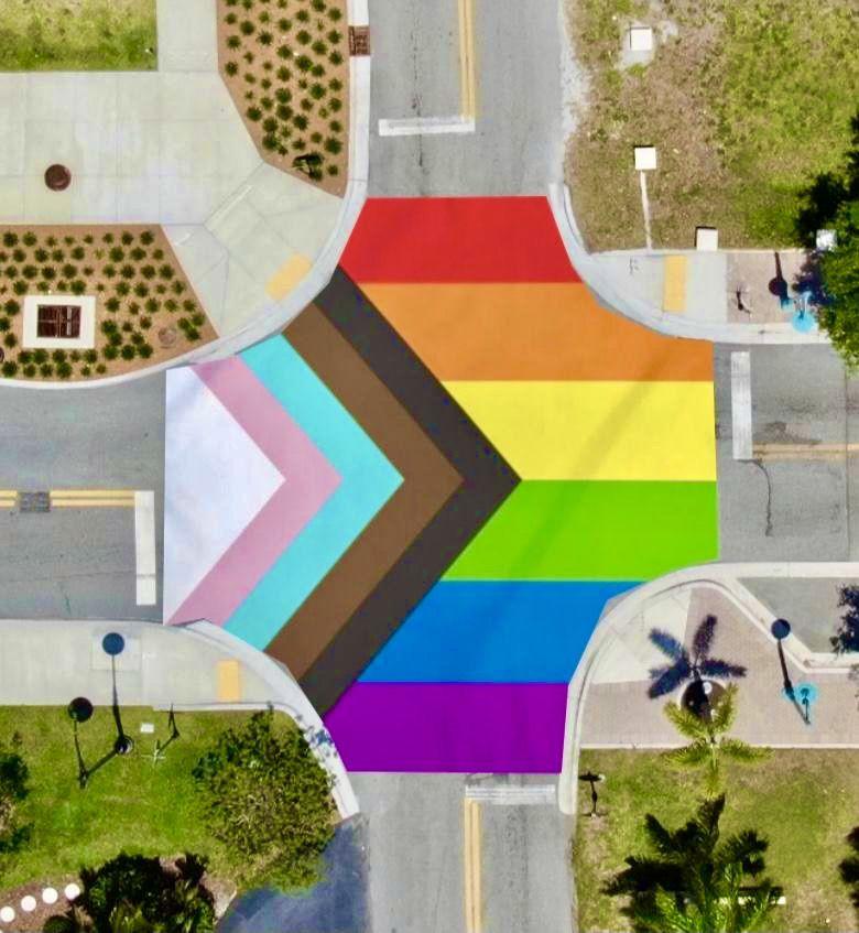 The plan for the Boynton Beach intersection Pride 2021