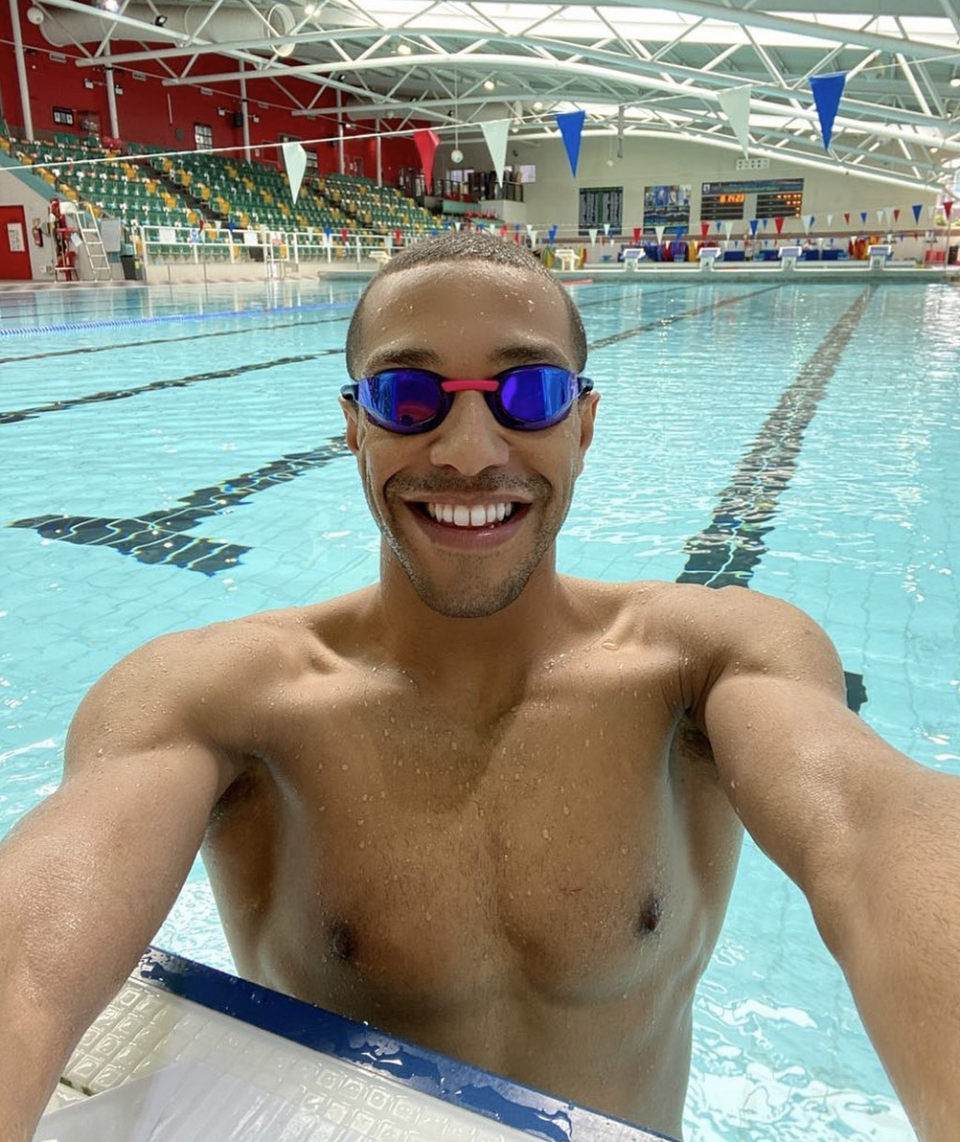 Michael Gooning is an openly gay swimmer with the British team