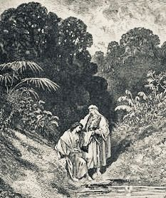 King David with Johnathan:  I have never loved a woman the way that I love Johnathan, said David