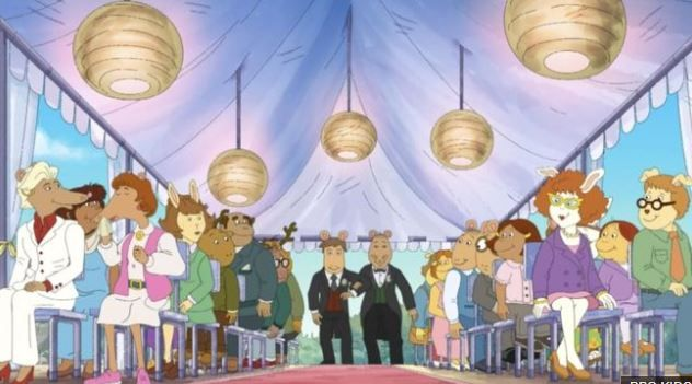 """Arthur"" Get's Married - Same-sex wedding cartoon from the Canadian Broadcasting Corporation (CBC)"
