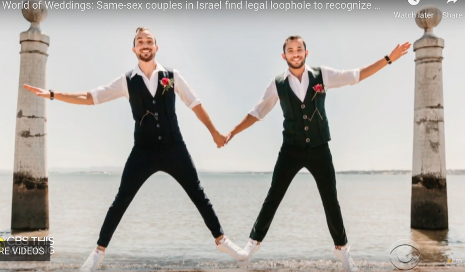 Same Sex Marriage is not legal in Israel but it is recognized.  A couple of gay Israelis went to get married in Portugal followd by a very large wedding reception in Tel Aviv.