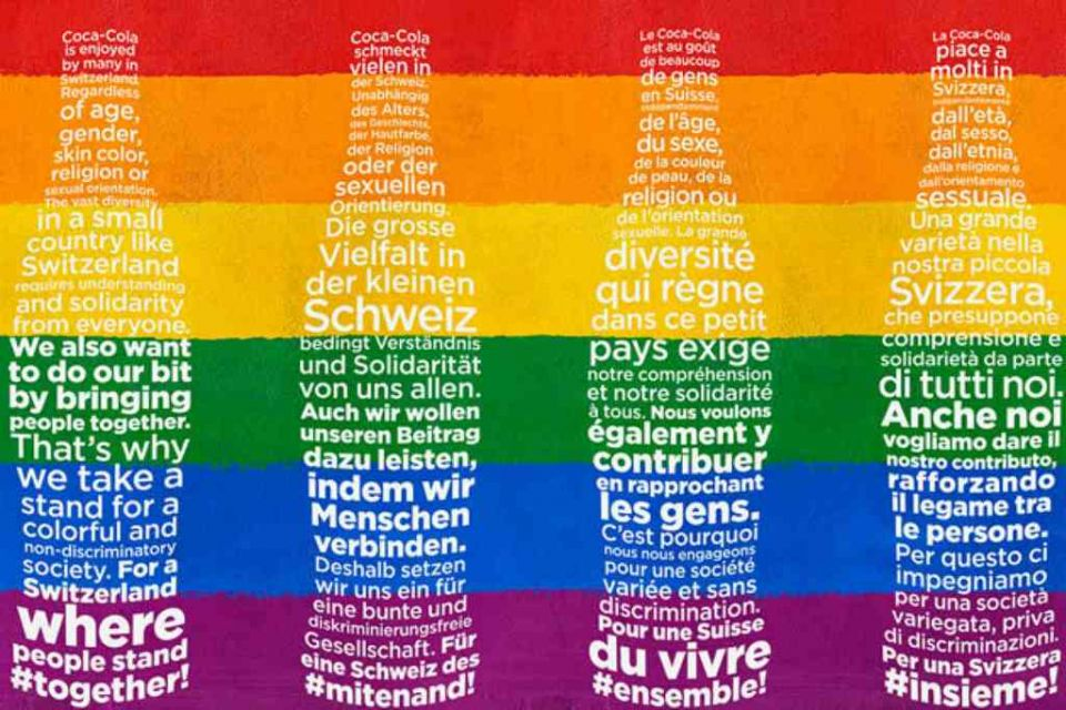 Coca-Cola Makes a Major Statement Against Homophobia in Switzerland, Buys Out Newspaper Front Pages 2/5/2020