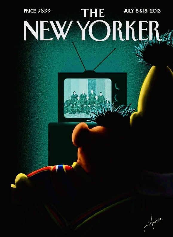 Bart and Earni Watching The Supreme Cour Justices when Same Sex was Legalized as seen in the New Yorker cover of July 8 & 15 of July 2013