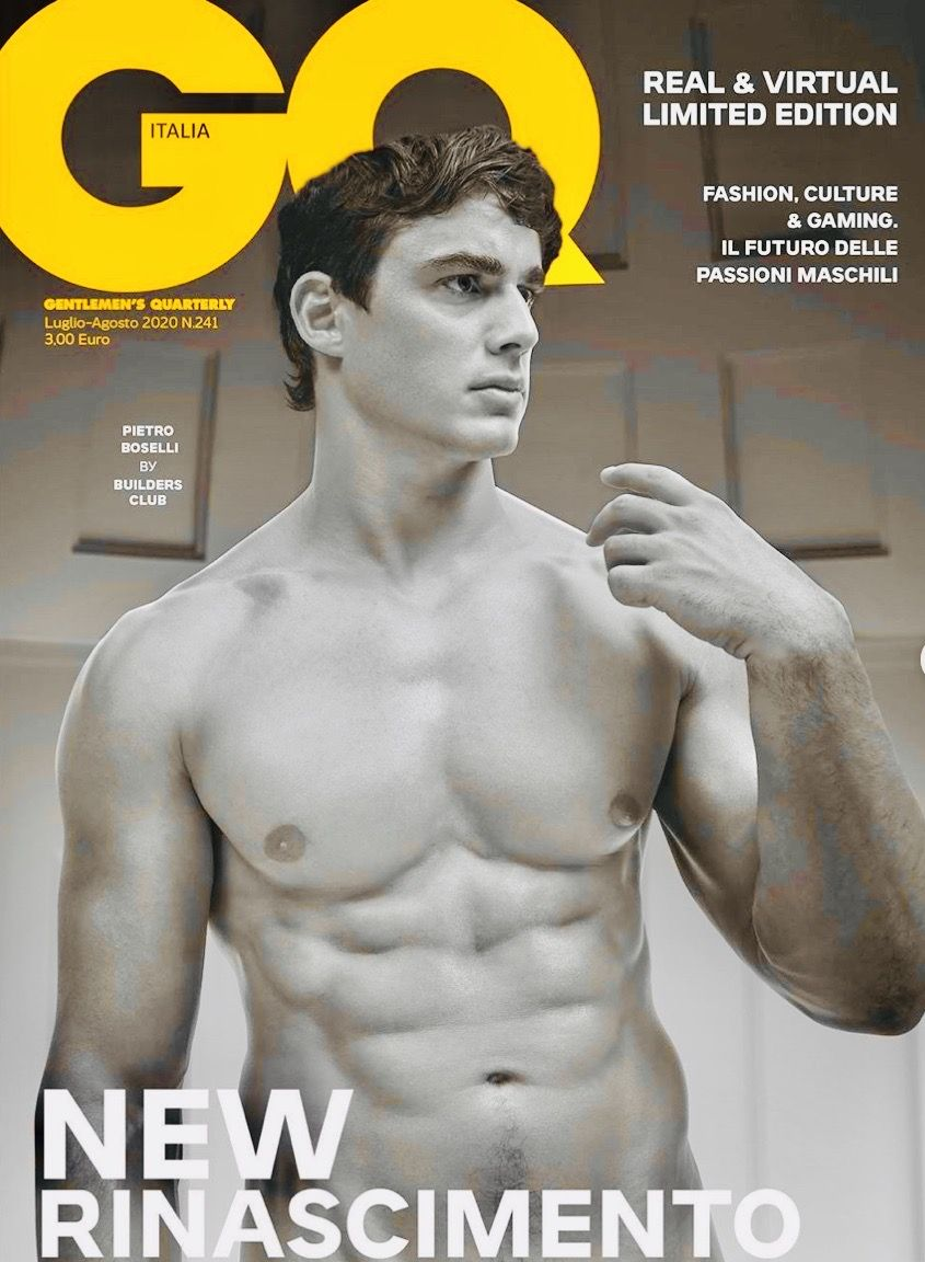 Pietro Boselli in the 8/2020 cover of GQ