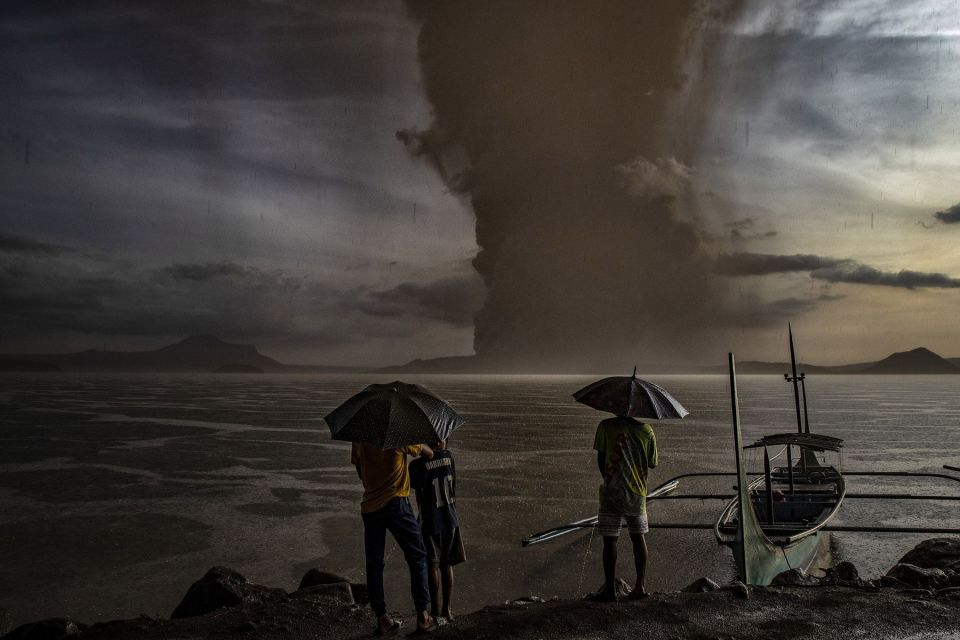 Philippines Taal Volcano Erupting - January 2020