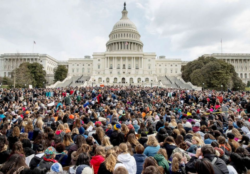 Students Walk Out to Protest Gun Violence Washington DC 2018
