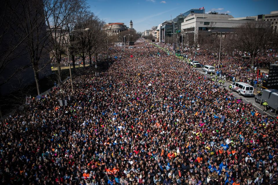 March of Our Lives Washington DC After Parklnad Mass Shooting 2018