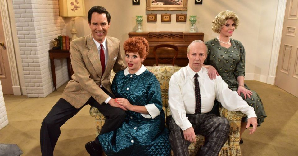 "The cast of Will and Grace recreate the ""I Love Lucy Show"""