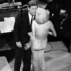 Marilyn and JFK BW Stage
