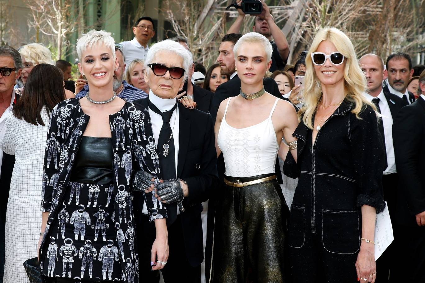 Katy Perry Stylist Karl Lagerfeld Cara Delevingne and Claudia Schiffer