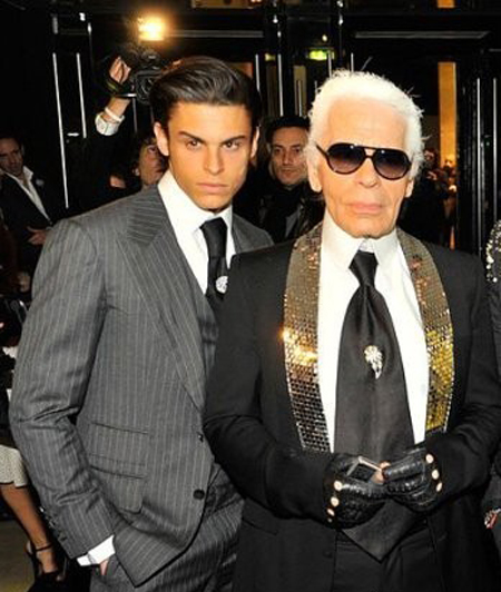 Lagerfeld and Husband