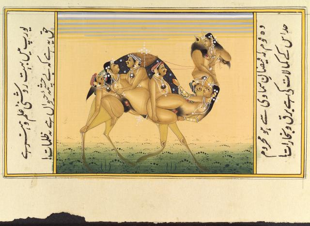 A_camel_composed_of_copulating_humans_Gouache_painting_19th_C_India_c_Wellcome_Library_London