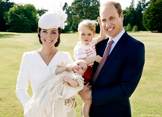 WilliamKatePrincess Charlotte and Prince Alexander