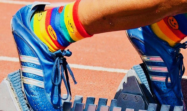 paris 2018 gay games rainbow socks