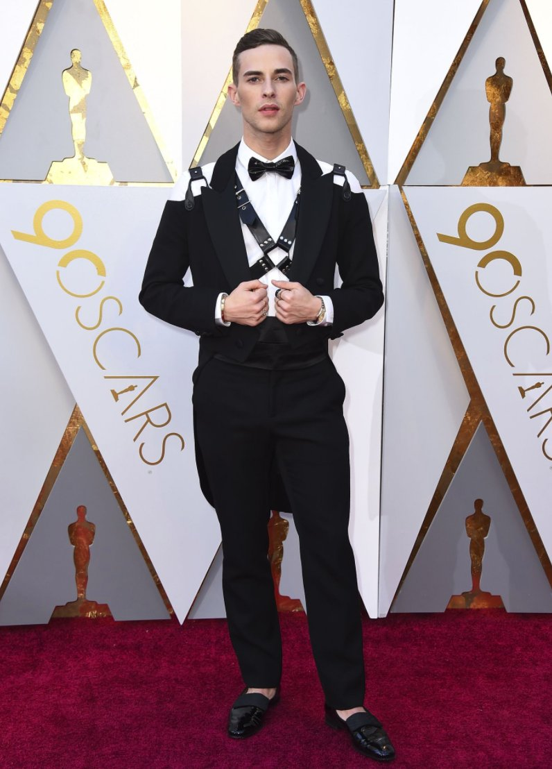 Adam Rippon at the Oscars