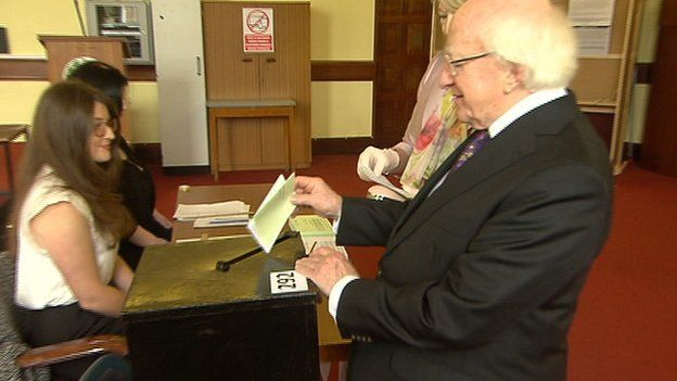 Irish_President_Michael_D_Higgins_Voting