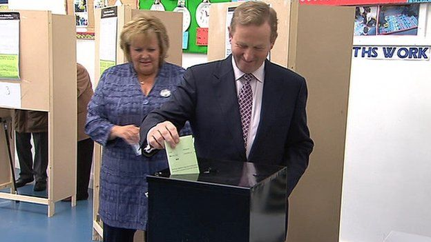 Irish_Prime_Minister_Enda_Kenny_voted_in_Castlebar_County_Mayo