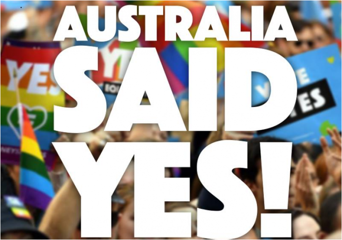 Australia said yes to marriage equality 696x489