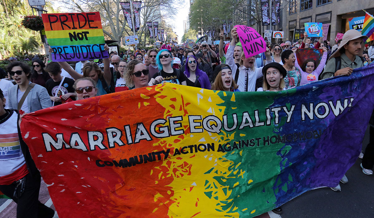 australia same sex marriage march