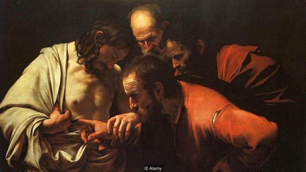 Caravaggio The Incredulity of Saint Thomas created in 1601 2