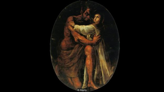 Cristóbal de Villalpando embraced cochineal red as in his 1695 painting Saint Rose Tempted by the Devil