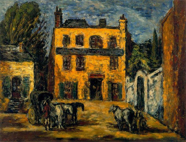 Arturo Souto building w horse carriages