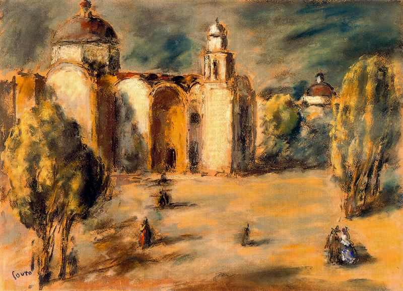 church and gardens acolm n mexico 1951