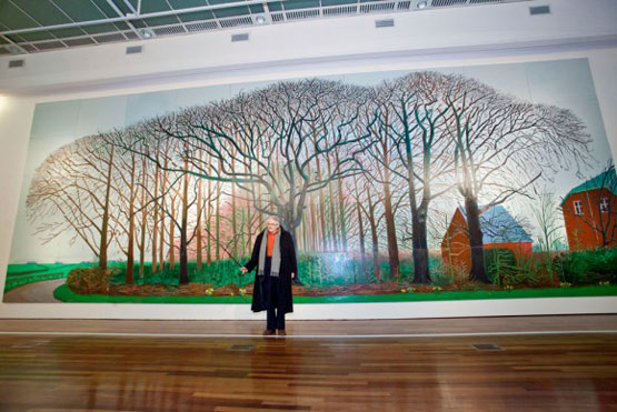 David Hockney poses with Bigger Trees Near Warter 580x388 1
