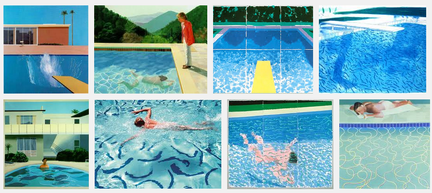 Hockney Pool Painting with Male Models