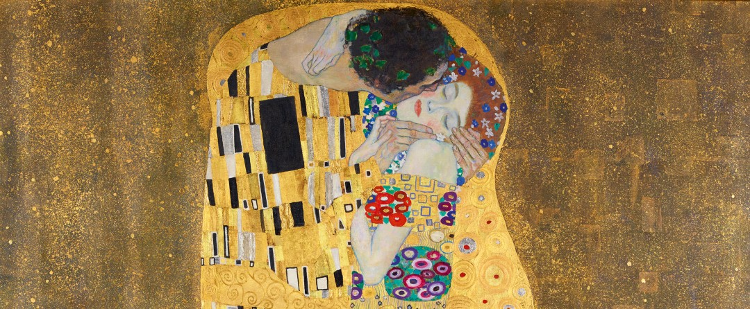 The Kiss by Gustav Klint