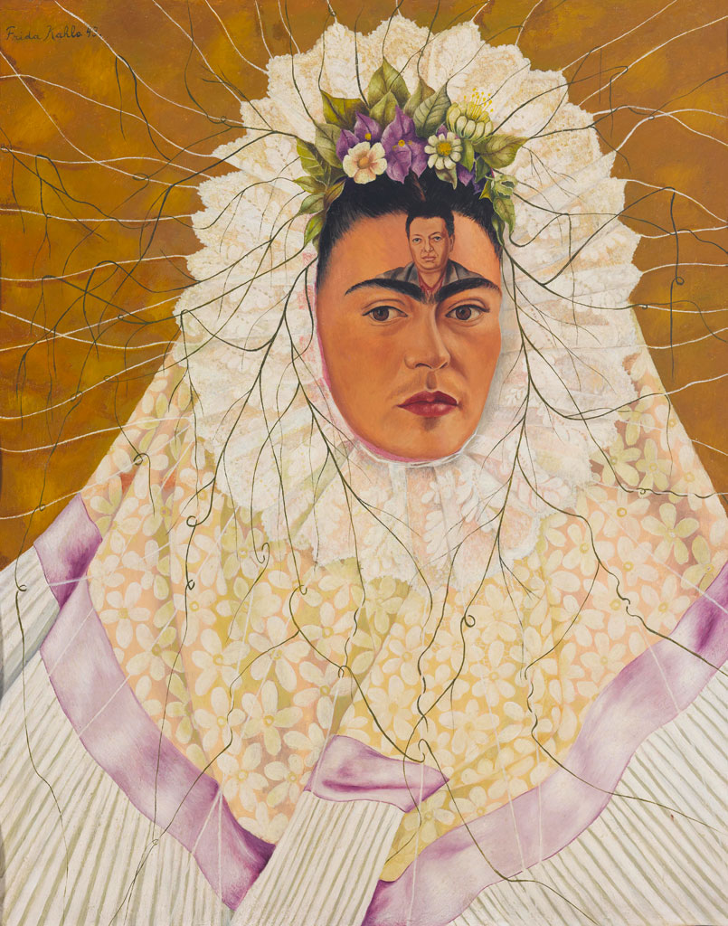 Frida Kahlo Self Portrait w Diego in Head