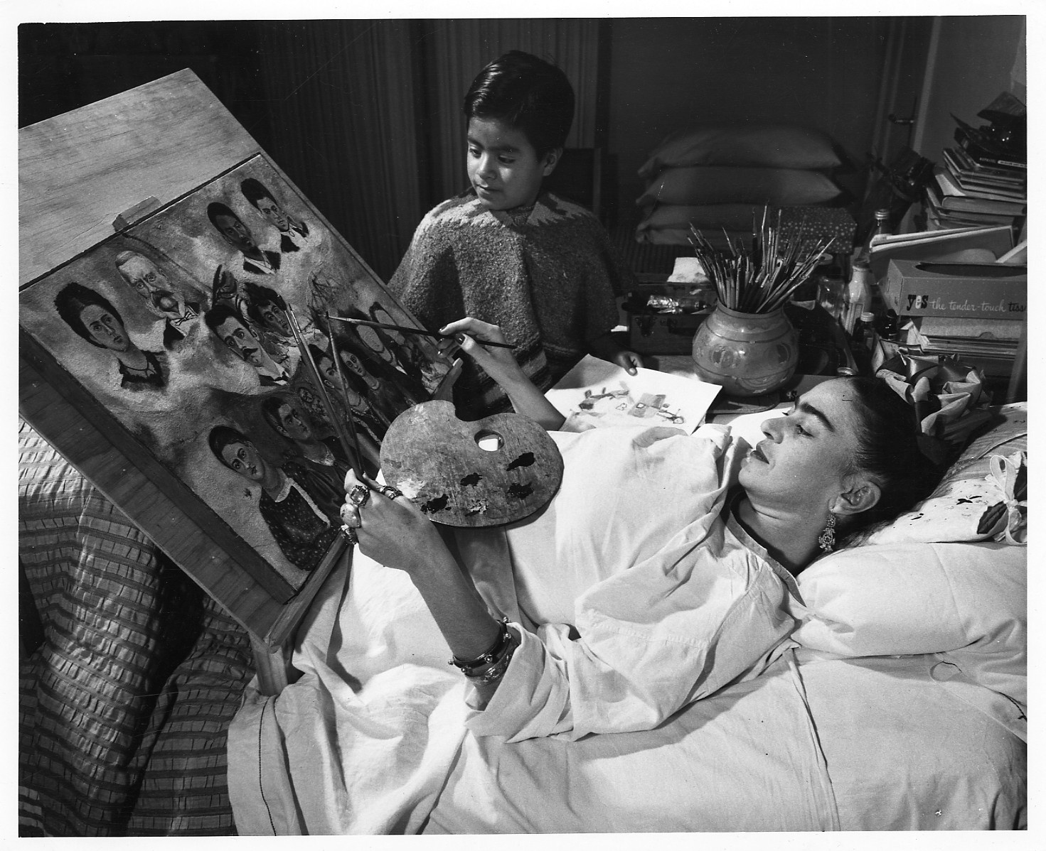 Frida Kahlo Recovering from Terrible Bus Accident
