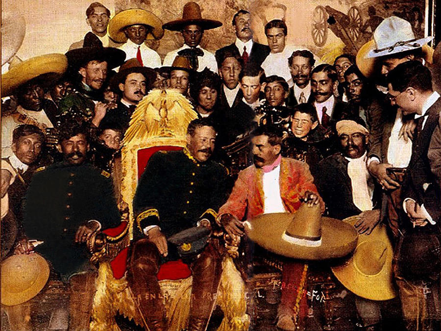 Emiliano Zapata and Pancho Villa in The Presidential Chair