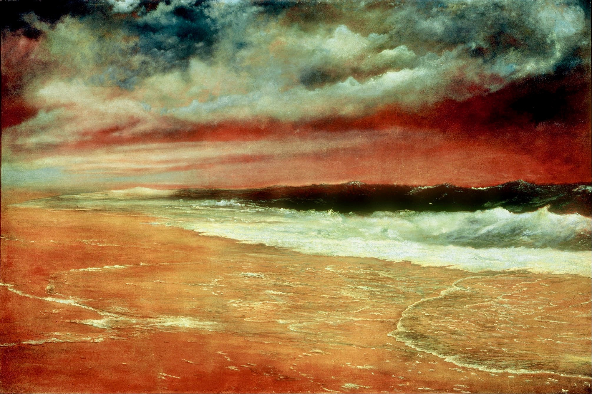 Joaquín Clausell Late Afternoon by the Sea The Red Wave Google Art Project copy