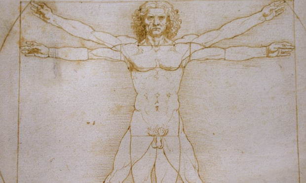 Vitruvian Man Being Damaged by the Lighting in the Louvre