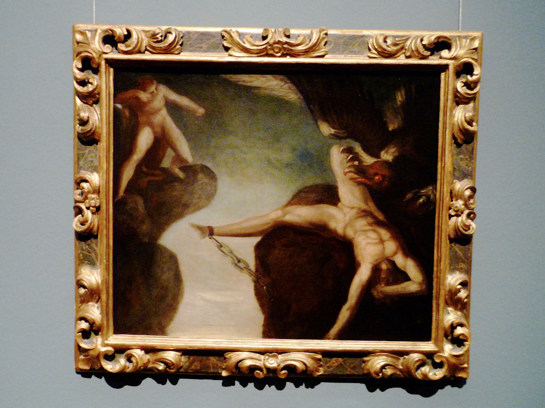Johann Heinrich Füssli. Hercules Slays the Eagle of Prometheus. Oil on canvas 1781 85