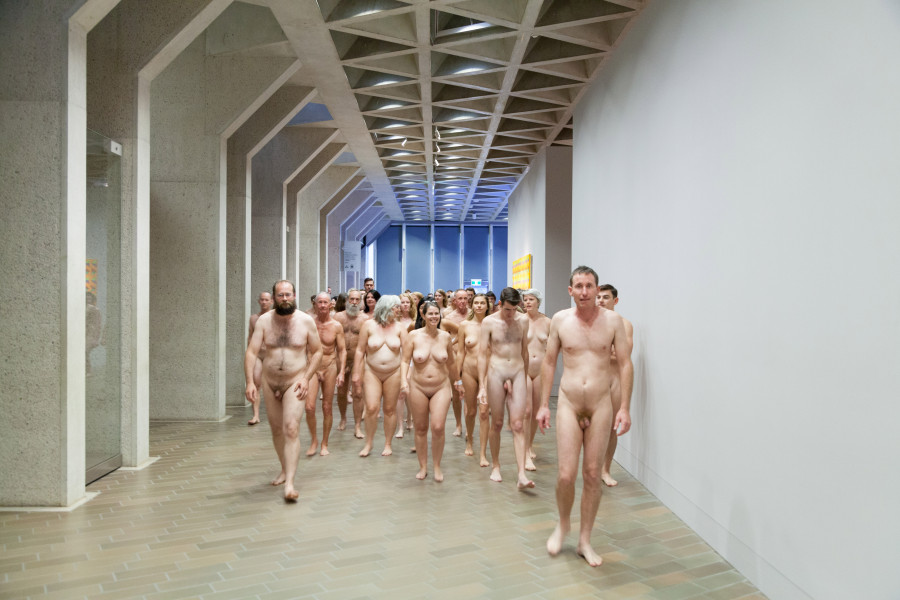 Naked Man Exhibit nude visitors