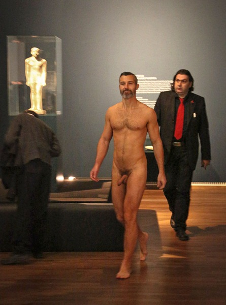 streaker led out leopoldmuseum vienna