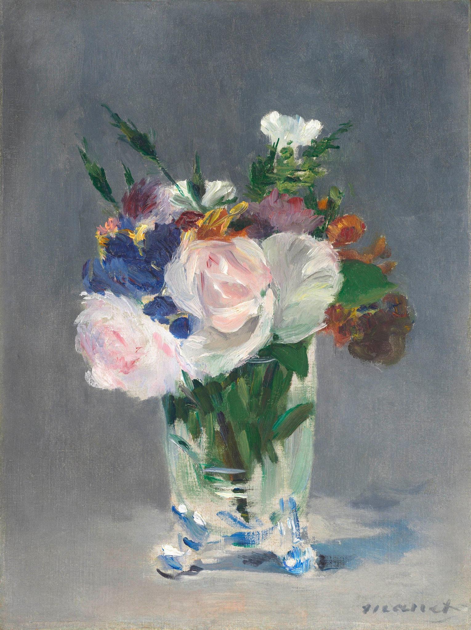 Flowers in a Crystal Vase circa 1882