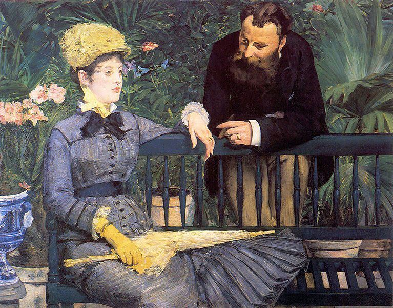 In the Conservatory Manet 1878 79