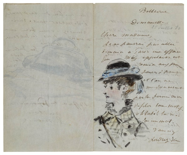 Letter to Madame Jules Guillemet July 1880
