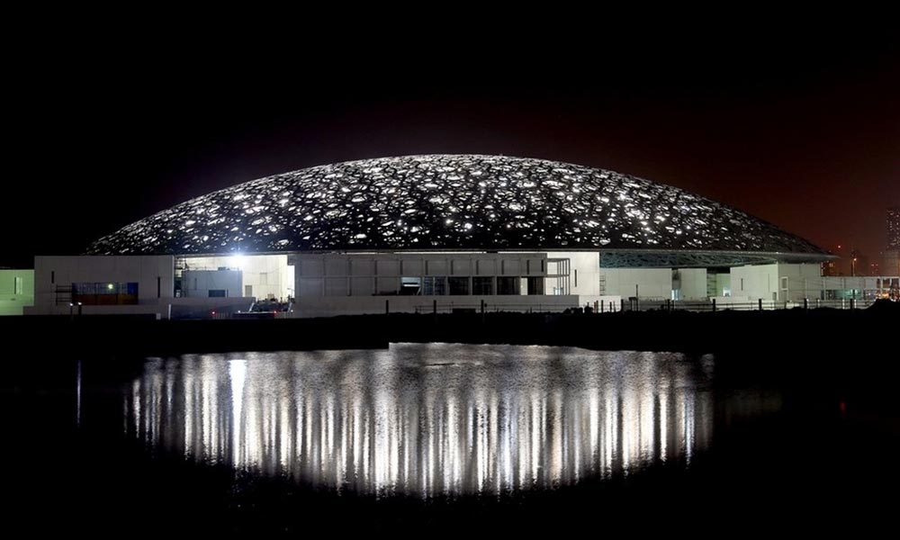 Louvre Abu Dhabi with Reflection