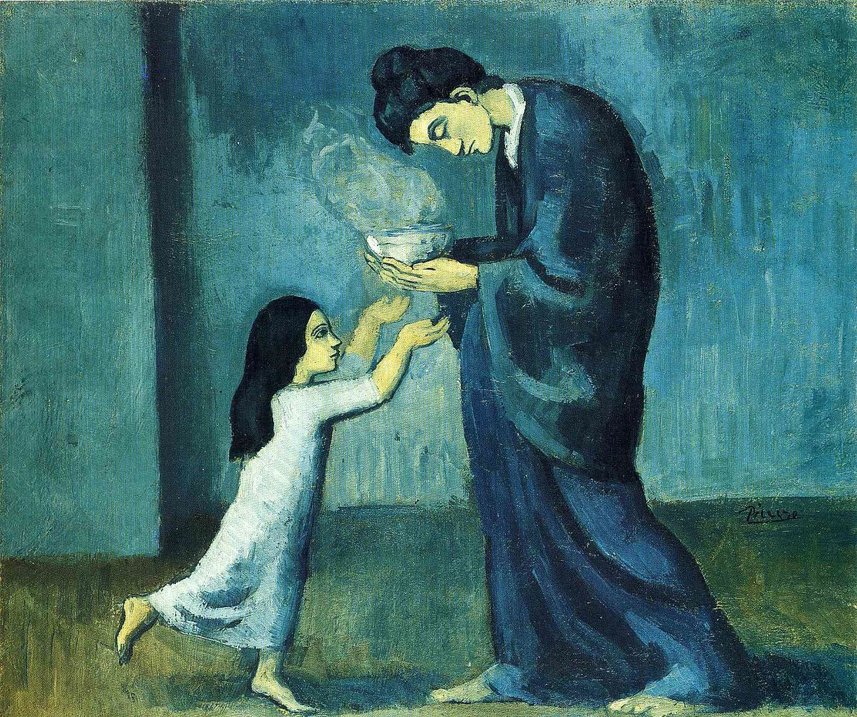 Pablo Picasso 1902 03 La soupe The soup oil on canvas 38.5 x 46.0 cm Art Gallery of Ontario Toronto Canada