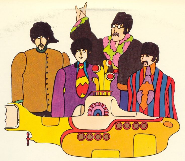Beatles Yellow Submarine Peter Max 1968