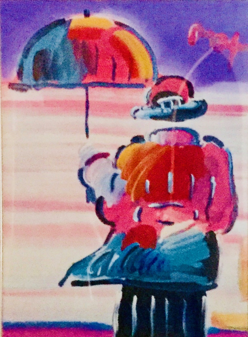 Man with Umbrella Peter Max
