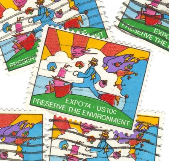 Peter Max US Stamp 1974