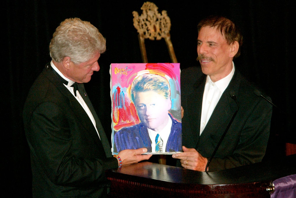 Peter Max and Bill Clinton
